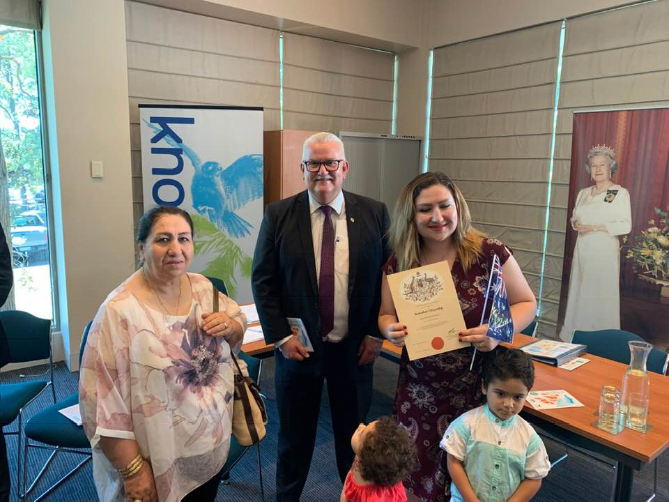 I am pleased to rise today to welcome the newest members of our community who became citizens of Australia on this previous Australia Day.