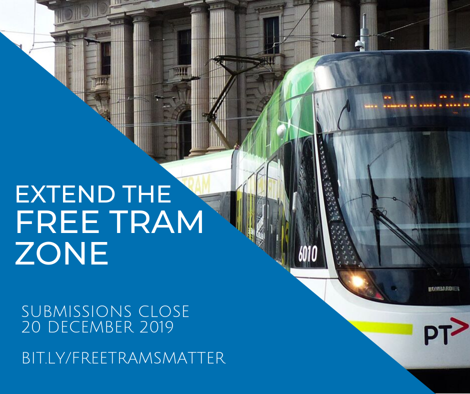The inquiry to extend the free tram zone is generating much debate, but students and seniors are getting behind my motion to get people out of cars and onto public transport.