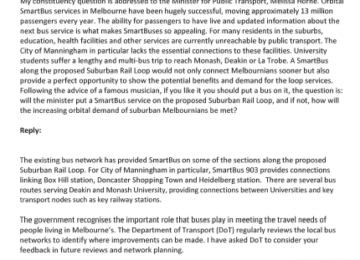 UPDATE – SMARTbuses for rail loop