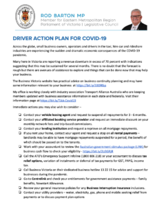 Taxi Driver Action Plan