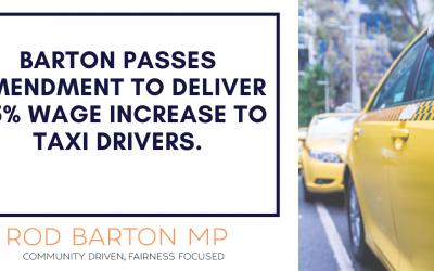 Fare Increase for Taxi Drivers – Amendment to Transport Legislation Bill