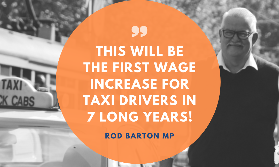 Media Release – Barton successfully moves amendments to deliver a 2.5% fare increase to taxi drivers