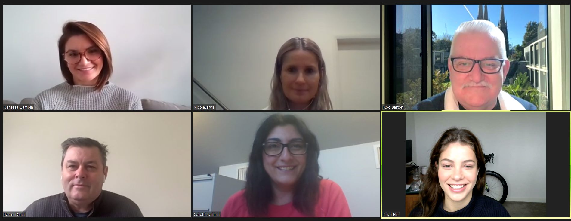 Zoom meeting with Look Good Feel Better Team