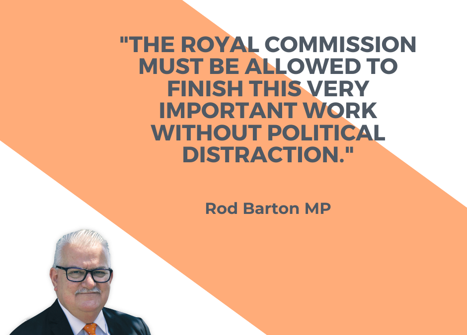 Barton Supports Royal Commission Delivering Its Findings