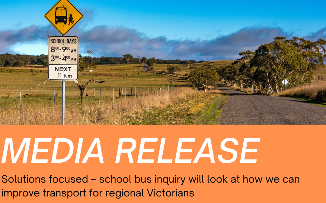 Solutions focused – school bus inquiry will look at how we can improve transport for regional Victorians